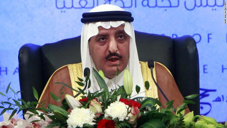 A file photograph of Saudi Prince Ahmed bin Abdulaziz Al-Saud in 2012.