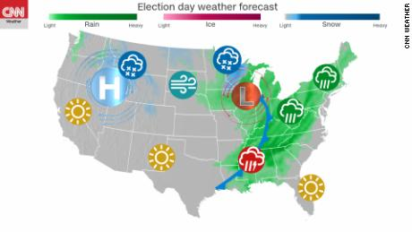 Election Day Weather Could Prove Critical In Mulitple States Cnn