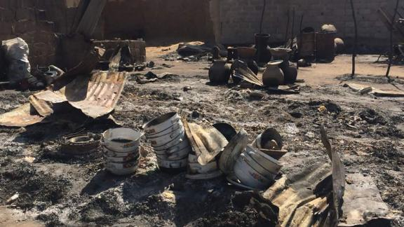 Kofa village in the outskirts of Maiduguri, in Borno State where Boko Haram militants burnt houses and shot at people on October 31, 2018.