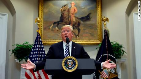 President Donald Trump talks about immigration and border security from the Roosevelt Room of the White House in Washington, Thursday, Nov. 1, 2018. (AP Photo/Susan Walsh)