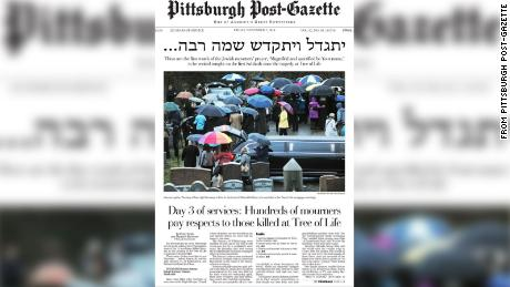 The front page of Friday's Pittsburgh Post-Gazette.