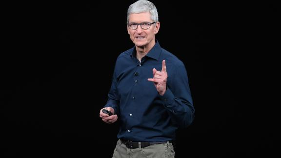 CUPERTINO, CALIFORNIA - SEPTEMBER 12:  Tim Cook, chief executive officer of Apple,  speaks during an Apple event at the Steve Jobs Theater at Apple Park on September 12, 2018 in Cupertino, California. Apple is expected to announce new iPhones with larger screens as well as other product upgrades.  (Photo by Justin Sullivan/Getty Images)