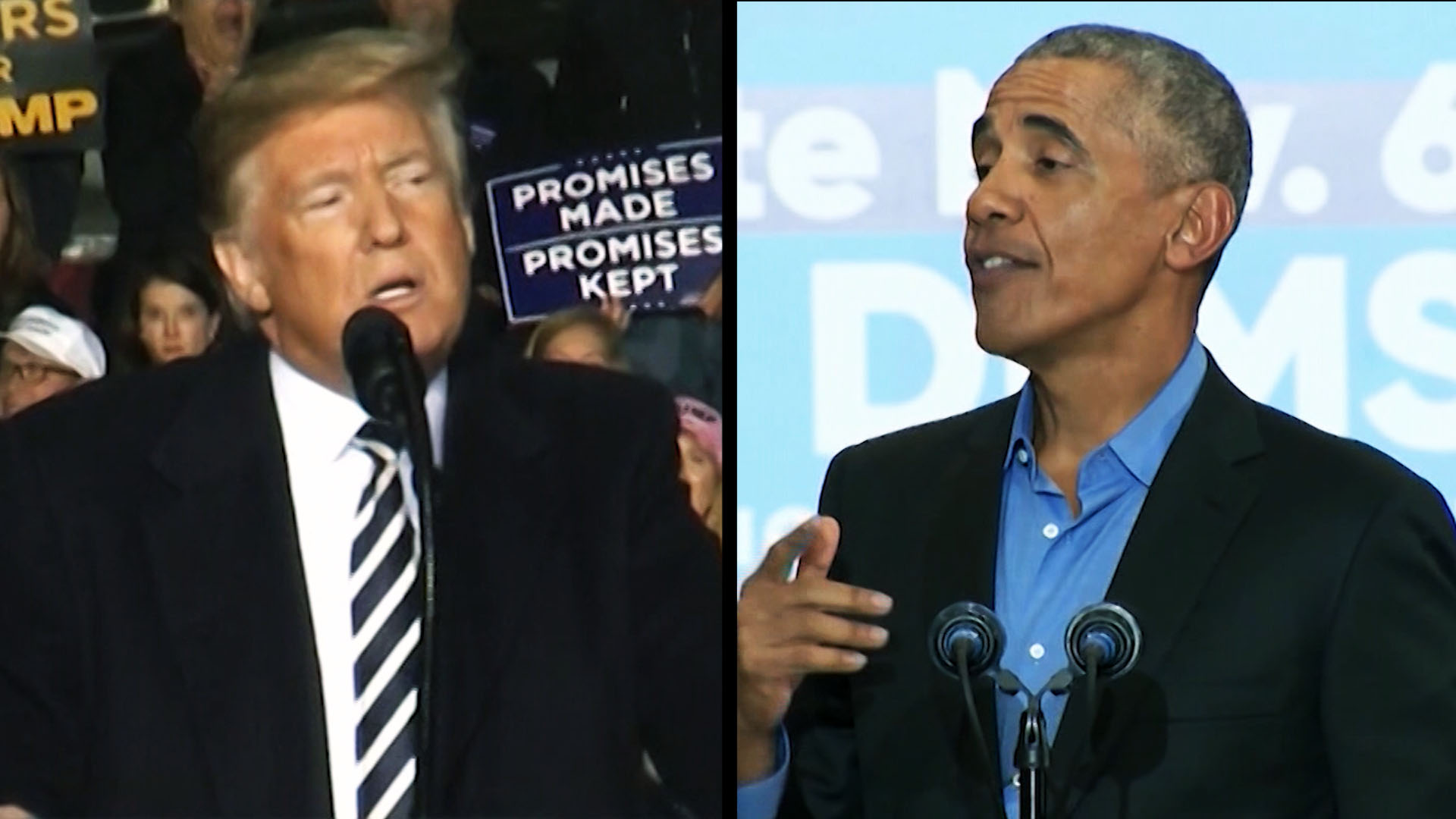Trump And Obama Face Off Ahead Of Midterms Cnn Video