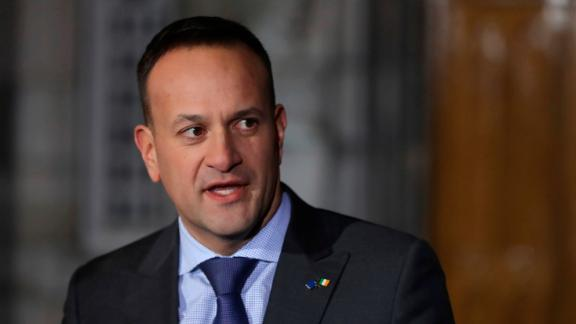 Irish Prime Minister Leo Varadkar addresses the media last week at Dublin Castle.