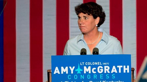 Democratic congressional candidate Amy McGrath