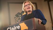 "BRIDGETON, MO - OCTOBER 31:  Senator Claire McCaskill speaks to supporters at a ""get out the vote"" rally she held with former Vice President Joe Biden on October 31, 2018 in Bridgeton, Missouri. McCaskill is in a tight race with her Republican challenger Missouri Attorney General Josh Hawley.  (Photo by Scott Olson/Getty Images)"