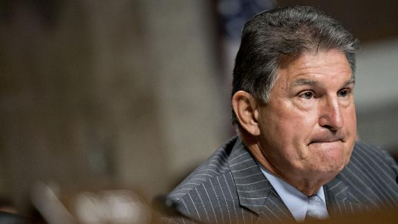 Sen. Joe Manchin, a Democrat from West Virginia, listens during a Senate Intelligence Committee hearing in Washington in September. Photographer: Andrew Harrer/Bloomberg via Getty Images