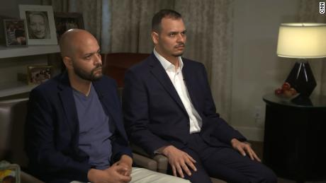 Salah (right) and Abdullah Khashoggi (left) in an interview with CNN's Nic Robertson last year.