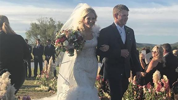 The two were married just before the fatal crash.