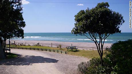 A file photo of Murphy's Holiday Camp in New Zealand, where the boy was taken after being plucked from the water.