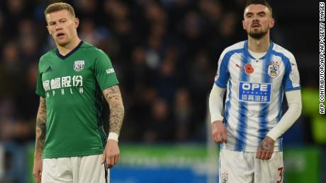 James McClean, who is pictured playing for West Brom, also refuses to wear a shirt with a poppy.
