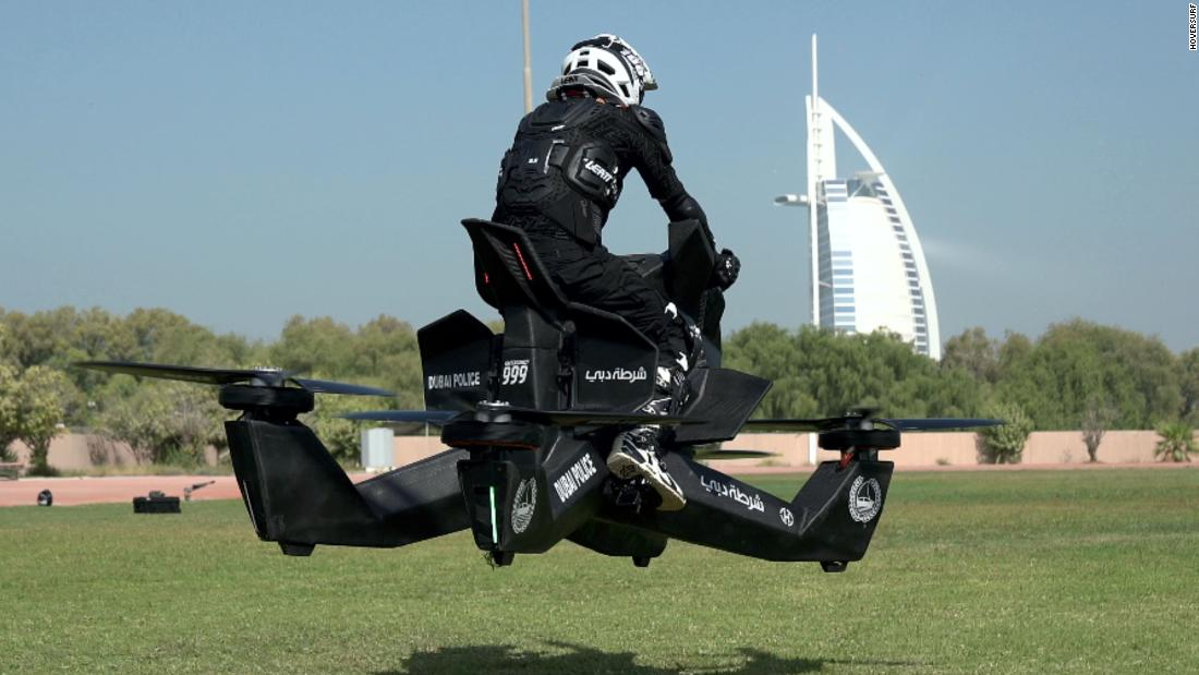 Brigadier Alrazooqi says he aims to have the hoverbikes in action by 2020.