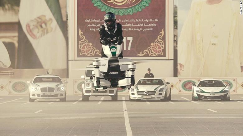An 2017 Hoversurf hoverbike tested in Dubai last year.