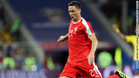 Nemanja Matic has made 45 appearances for Serbia.