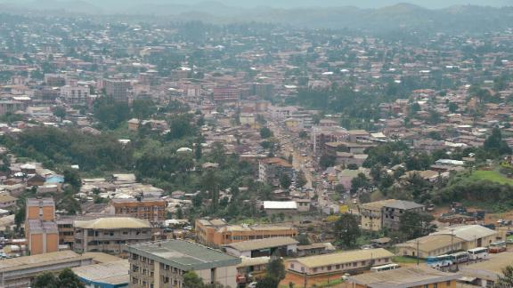 A photo take in June 2017 shows the city of Bamenda, in Northwest Cameroon.