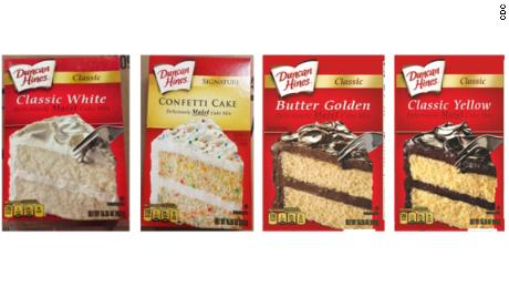 Four types of Duncan Hines cake mix recalled due to salmonella outbreak