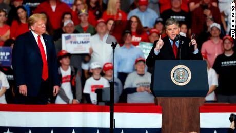 Fox News host Sean Hannity appeared on stage with President Donald Trump in Missouri just a few hours after saying that he would not do it.