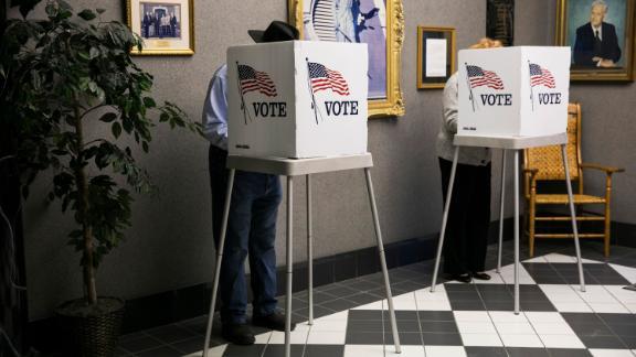 Voters cast ballots in Georgetown, Kentucky.