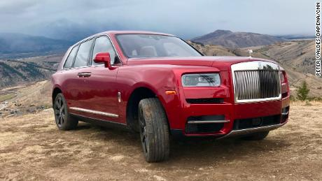 The Rolls-Royce Cullinan on Snow King Mountain in Wyoming. Prices start at $325,000, but climb quickly with options.