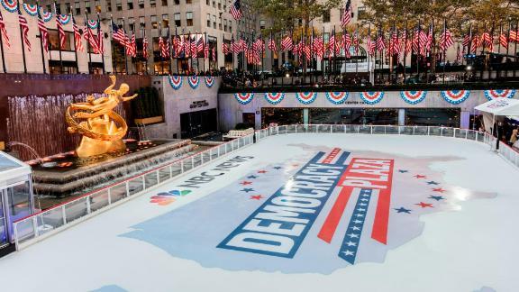 The ice skating rink at Rockefeller Center on Nov. 8, 2016