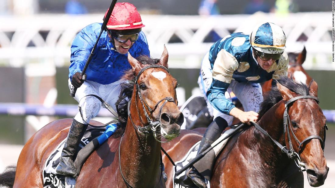 Jockey Kerrin McEvoy rode the Charlie Appleby-trained 8-1 shot to victory at the 158th edition of Australia's richest horse race.