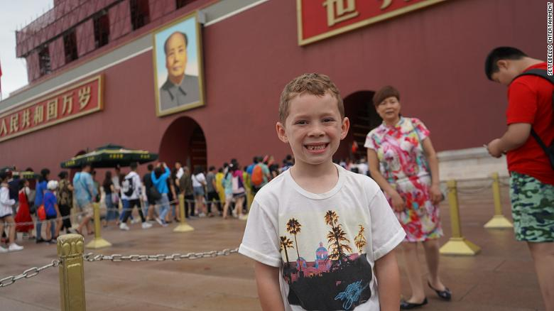 How an eight-year-old American boy became a viral sensation in China