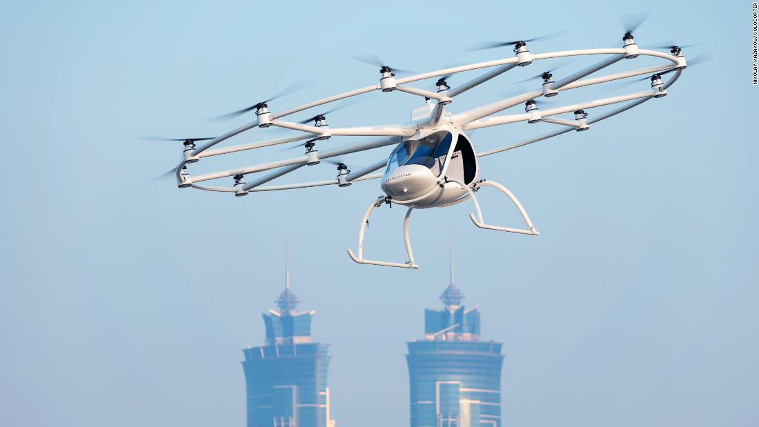 German company Volocopter trialled its 18-rotor eVTOL aircraft in an unmanned flight in Dubai, in September 2017, reaching heights of nearly 200 feet. Since then Volocopter has announced further test flights in Singapore for 2019.