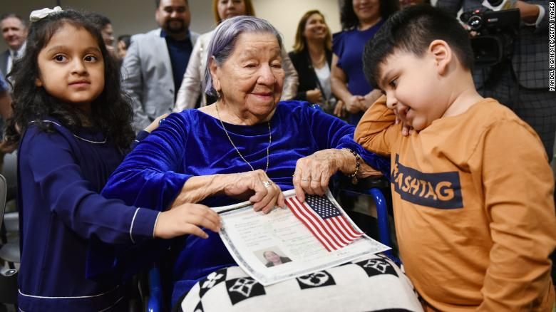 106-year-old becomes US citizen on Election Day