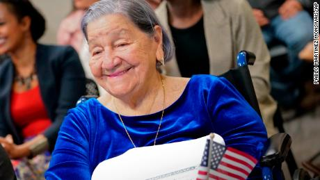 Becoming a US citizen was this 106-year-old's dream. She took the oath on Election Day