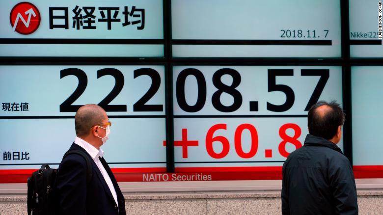东京基准日经指数在周三交易中上涨约0.5%。