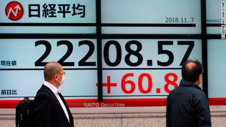 Tokyo's benchmark Nikkei index fell about 0.3% on Wednesday.