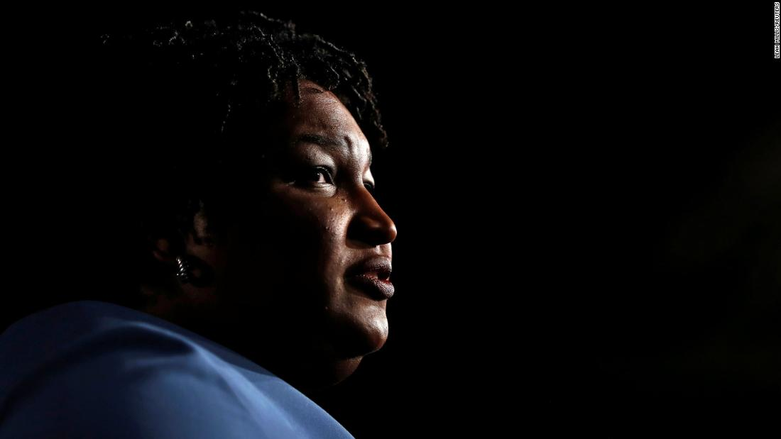 "Georgia gubernatorial nominee Stacey Abrams addresses supporters in Atlanta early on Wednesday, November 7. <a href=""https://www.cnn.com/2018/11/07/politics/georgia-governors-race-stacey-abrams/index.html"">The Democrat hasn't conceded the governor's race</a> to Republican Brian Kemp, arguing that the high-stakes contest was too close to call and there was the possibility of a runoff."