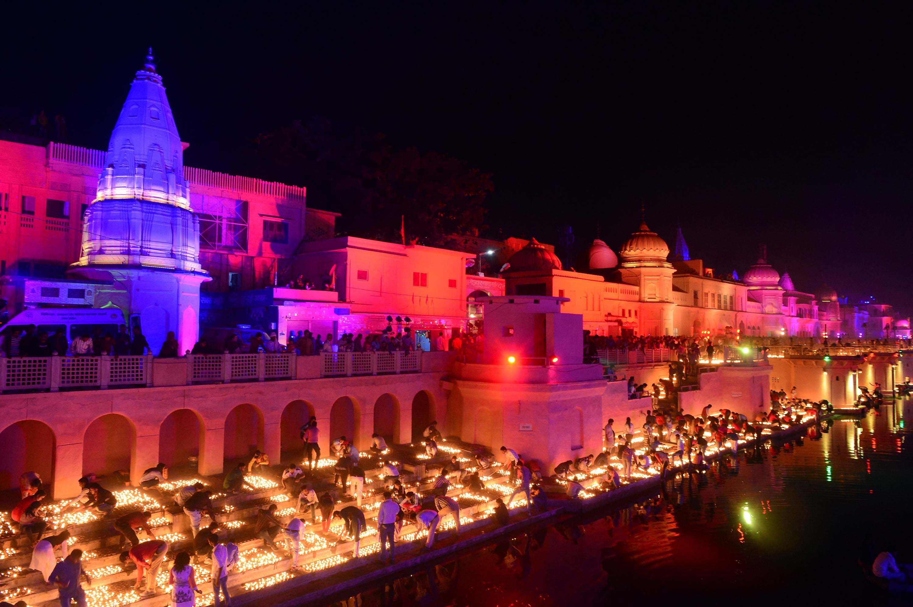 ayodha india breaks guinness record with diwali lamps cnn travel