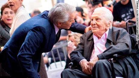 Michael Douglas' dad got him emotional at Hollywood star ceremony