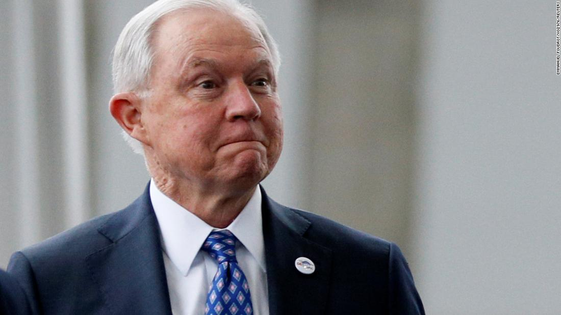 Justice Department officials gather to honor Jeff Sessions