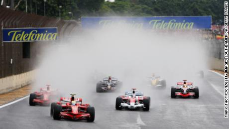 Two torrential downpours tested the drivers to their limits.