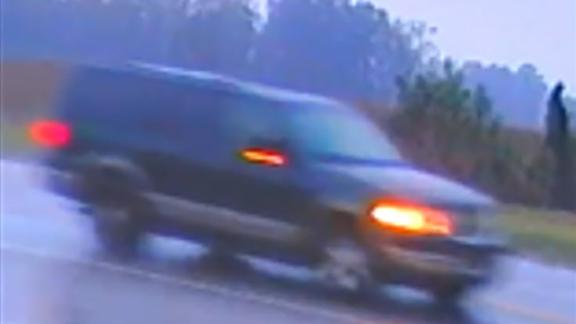 Surveillance video shows the wanted SUV minutes after the girl was abducted.