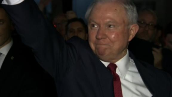 Former Attorney General Jeff Sessions leave the DOJ on 10/07/2018.