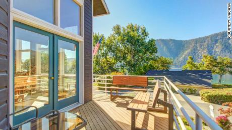 Garret Kaiser's lakeside vacation home in Washington that he bought as an investment.
