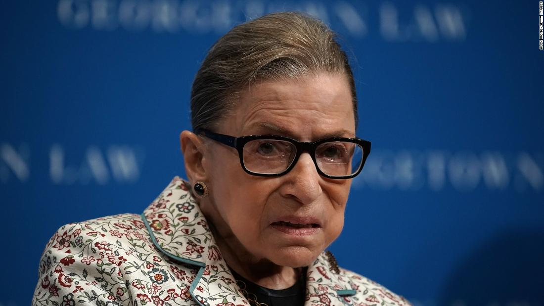 Justice Ginsburg hospitalized after fracturing ribs in fall