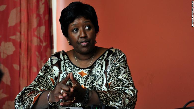 Dr Agnes Binagwaho working for the Rwandan Health Ministry in Kigali in 2010.