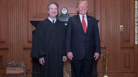Trump has another chance to celebrate Kavanaugh at the court ceremony