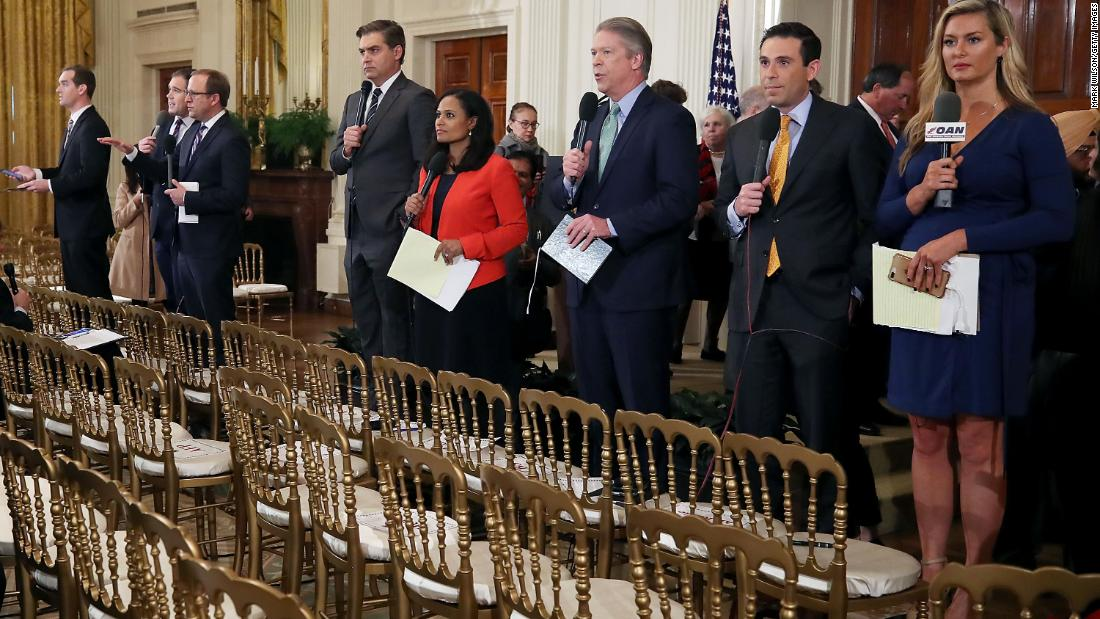 Reporters condemn White House decision to bar CNN's Acosta
