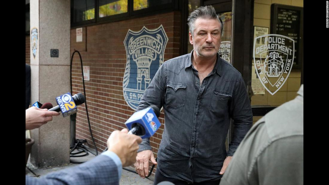 "Actor Alec Baldwin exits a New York police precinct on Friday, November 2. He was arrested and <a href=""https://www.cnn.com/2018/11/02/entertainment/alec-baldwin-arrested/index.html"" target=""_blank"">charged with assault and harassment</a> following a dispute over a parking spot, police said. A representative for Baldwin had no comment when reached by CNN, but a series of tweets on the account of the Hilaria and Alec Baldwin Foundation denied the allegations."