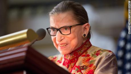 Ruth Bader Ginsburg says she's 'almost repaired' after last month's fall