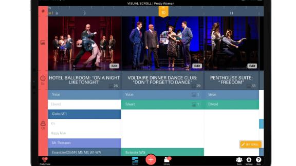 ProductionPro allows users to browse scenes for script updates or watch videos to help learn choreography.