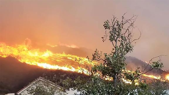 The fire burning in Ventura County has caused the closure of the 101 Freeway in both directions.