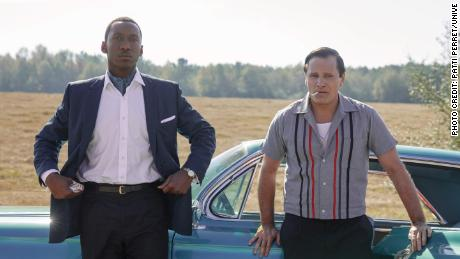 "Mahershala Ali as Dr. Donald Shirley and Viggo Mortensen as Tony Vallelonga in ""Green Book,"" directed by Peter Farrelly."