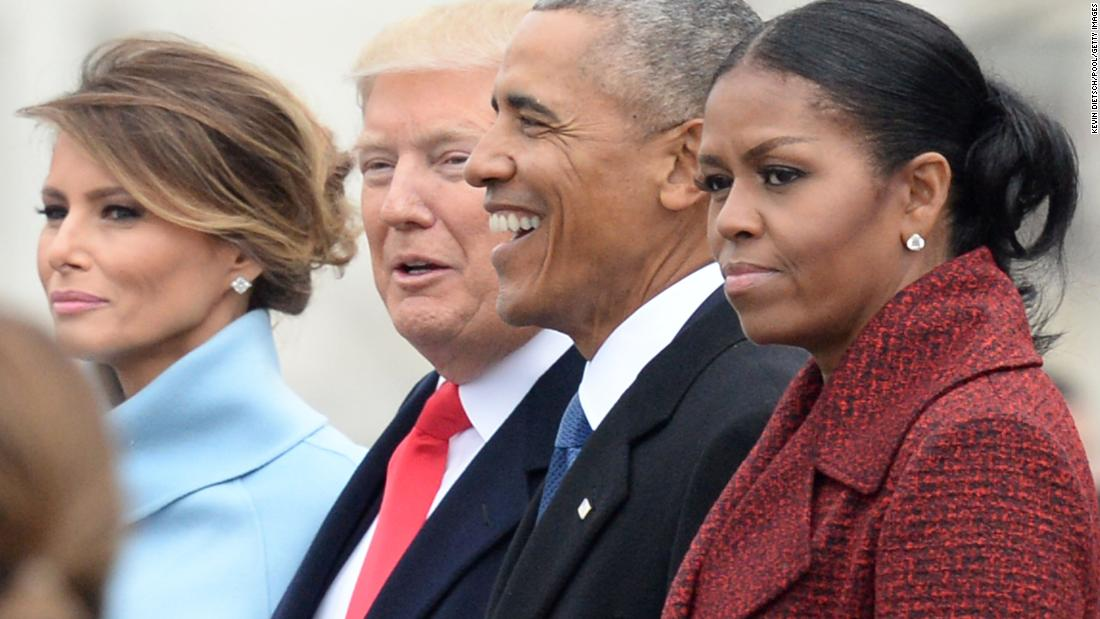ABC News: Michelle Obama 'stopped even trying to smile' at Trump inauguration
