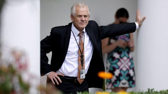 WASHINGTON, DC - JUNE 07:  White House National Trade Council Director Peter Navarro stands along the Rose Garden colonnade as he listens to a news conference between U.S. President Donald Trump and Japanese Prime Minister Shinzo Abe at the White House June 7, 2018 in Washington, DC. Trump and Abe discussed the upcoming U.S.-North Korea summit.  (Photo by Chip Somodevilla/Getty Images)